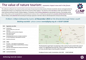 GLNP conference on the value of nature tourism announced