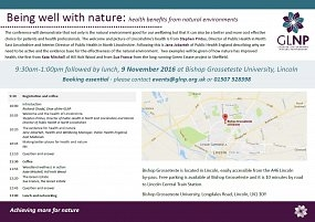 GLNP conference on being well with nature announced